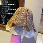 Straw Woven Bucket Hat