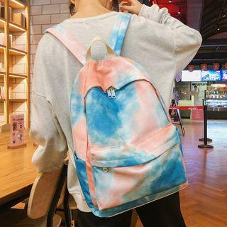 Pom Pom Tie-dyed Nylon Backpack