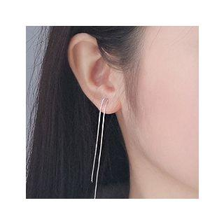 925 Sterling Silver Threader Earring Silver - One Size