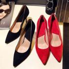 Genuine Leather Pointed Pumps