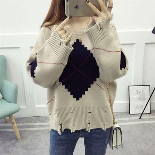Slashed Panel Sweater