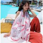 Printed Shawl White - One Size