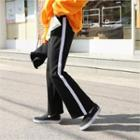 Pipe-trim Boot-cut Pants