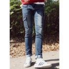 Cargo-pocket Washed Jeans