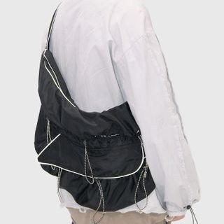 Reflective Trim Messenger Bag Black / Black - One Size