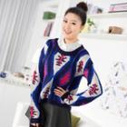 Pattern Sweater Blue - One Size