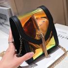 Reflective Flap Crossbody Bag