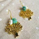 Sweet Little Gold Trees Earrings