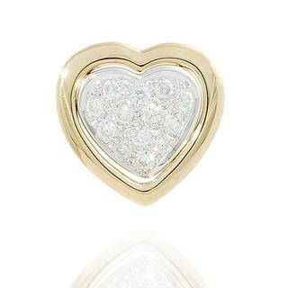 18k Yellow Gold Heart Shape Pendant With Diamonds