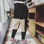 Corduroy Patchwork Drop Crotch Pants