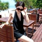 Set: Bikini + Cowl-neck Playsuit