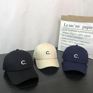 Letter C Embroidered Baseball Cap