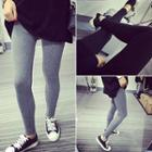 Plain Elastic Leggings