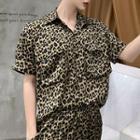 Short-sleeve Leopard Print Shirt
