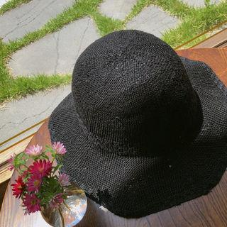 Woven Sun Hat Black - One Size