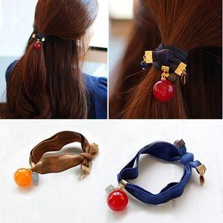 Bow-accent Jewelry Hair Tie
