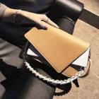 Color Block Asymmetry Shoulder Bag