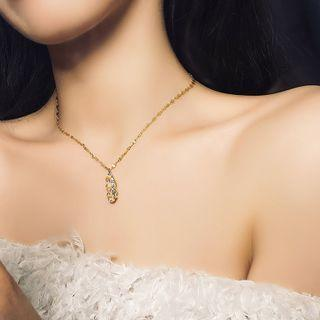 Tear Drop Necklace Gold - One Size