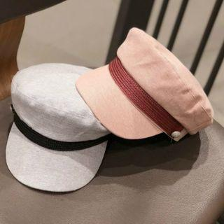 Checked Buttoned Bucket Hat