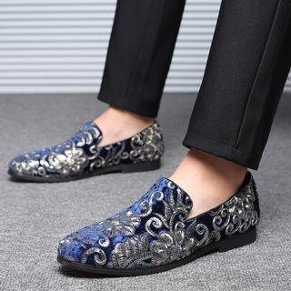 Sequined Flannel Loafers