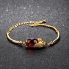 Gemstone Bracelet 520 - Bracelet - Gold & Red - Bracelet
