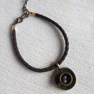 Brown Leather Cappuccino Bracelet One Size