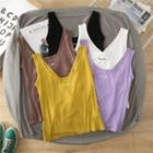 Lettering Cutout-back Cropped Tank Top