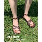 Cross-strap Sandals One Size