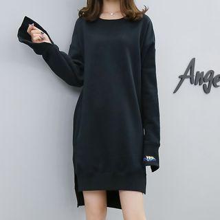 Slit Pullover Dress