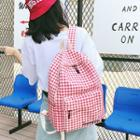 Gingham Canvas Backpack