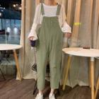 Distressed Cropped Jumper Pants
