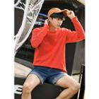 Contrast-piping Long-sleeve T-shirt