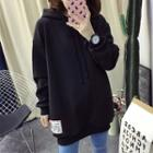 Long-sleeve Applique Hooded Top