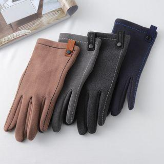Contrast Stitching Gloves