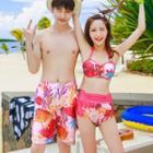 Couple Matching Swim Shorts/ Set: Bikini + Cover-up