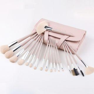 Set Of 18: Makeup Brush Set Of 18 - Nude - One Size