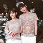 Couple Matching Patterned Short-sleeve Knit Top