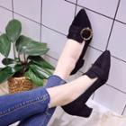 Fabric Buckled Pumps