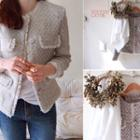 Flap-detail Tweed Jacket