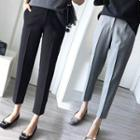 Straight-cut Cropped Dress Pants