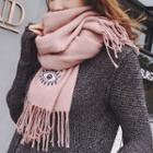 Eye Embroidered Scarf