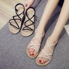 Strappy Espadrille Slingback Sandals
