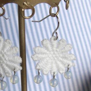 Vintage Lace Flower Earrings