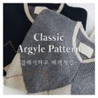 Argyle-patterned Knit Top