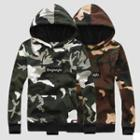 Long-sleeve Hooded Camouflage Pullover