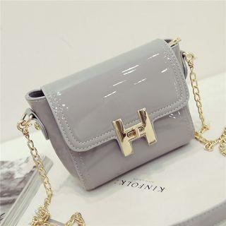 Patent Chained Shoulder Bag