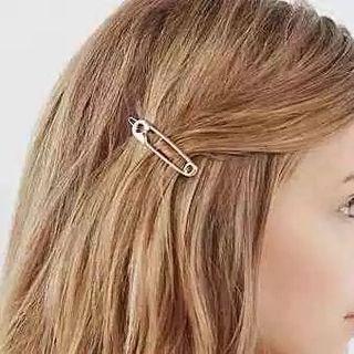 Safety Pin Hair Clip