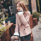 Double-breasted Woolen Short Coat
