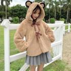 Bow Hooded Coat