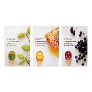 Innisfree - Variety Pack - Its Real Squeeze Mask - 5 Flavors
